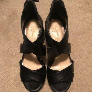 Jessica Simpson Size 6.5 Black Wedges